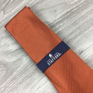Stafford Orange Pattern Tie